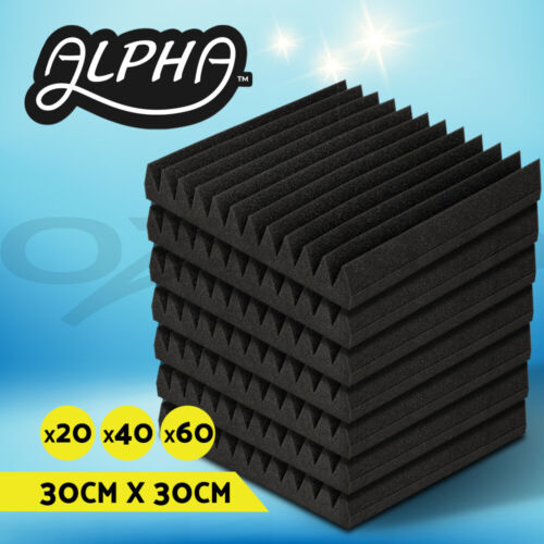 Alpha Studio Acoustic Foam Sound Absorbtion Proofing Panel Wedge 30X30CM 20-60pc