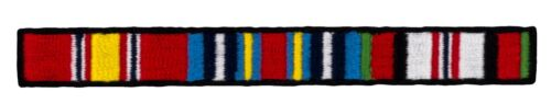 "Afghanistan Campaign Ribbons Patch (463) 4 1/4"" x 1/2"" Embroidered Patch 54766Army - 66529"