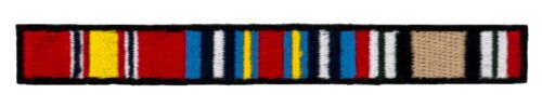 "Iraqi Campaign Ribbons Patch (464) 4 1/4"" x 1/2"" Embroidered Patch 66148Army - 66529"