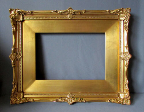 VINTAGE French Style LEMON GOLD Gilt Wood & Gesso PAINTING FRAME circa 1929