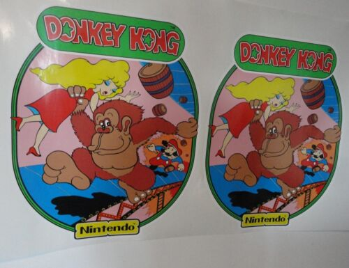 Top Holiday Gifts Nintendo Donkey Kong Arcade Game Side art decal set