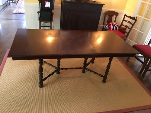 """Antique Mahogony Jefferson Woodworking Co. Louisville, Ky. Extension Table 6'6"""""""