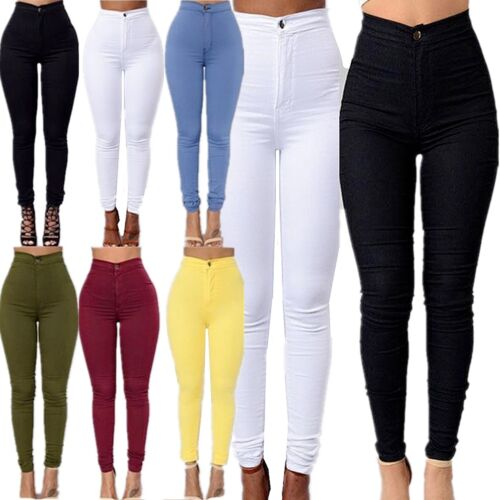 Women Trousers Denim Leggings New Skinny High Waist Jeans Stretchy Pencil Pants