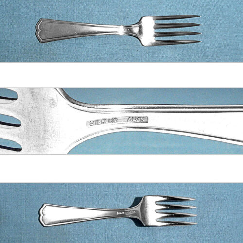 ALVIN STERLING BABY FORK ~ CHIPPENDALE - NEW ~ NO MONO