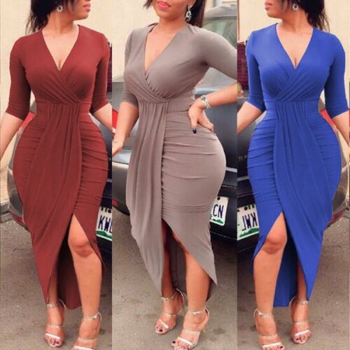 Women Bandage Bodycon One Shoulder Long Sleeve Party Evening Cocktail Mini Dress
