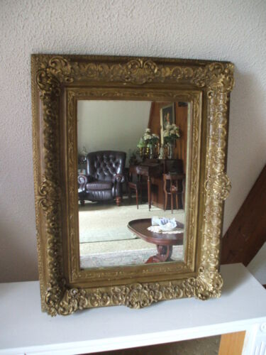 Exceptional! Ornate Antique Carved Gesso Gilted Parisienne Style Mirror