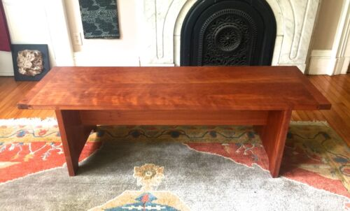 CHERRY BENCH  Mid Century Modern style~Charles Shackleton signed