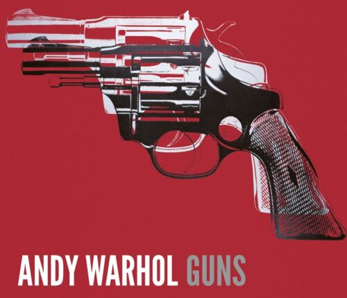 Andy Warhol Guns, c.1981-82 (white and black on red) Art Print Poster 29.5x35.5