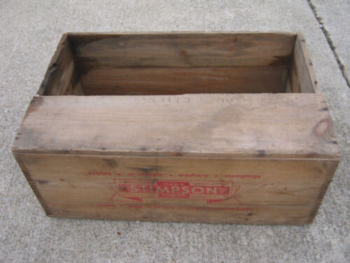 Vintage Edwin B. Stimpson Co Inc New York Wood Box