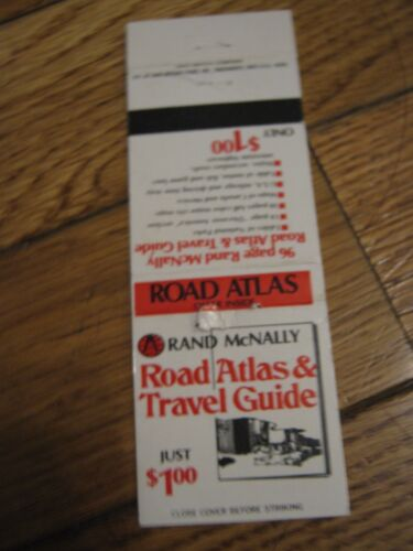 Vintage Rand McNally Road Atlas & Travel Guide  Empty Matchbook