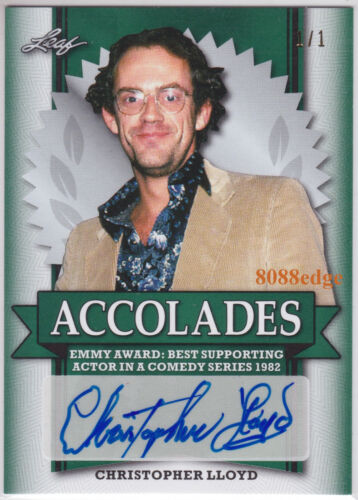 "2017 POP CENTURY ACCOLADES AUTO: CHRISTOPHER LLOYD #1/1 OF ONE AUTOGRAPH ""TAXI"""