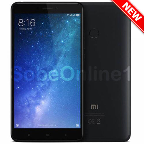 "Xiaomi Mi Max 2 64GB Black (FACTORY UNLOCKED) 6.44"" 4GB Ram 12MP DualSim, GLOBAL"