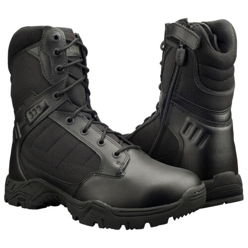 """Magnum Mens RESPONSE II 8"""" Side Zip Black Police Army Combat Tactical Boots 5283"""