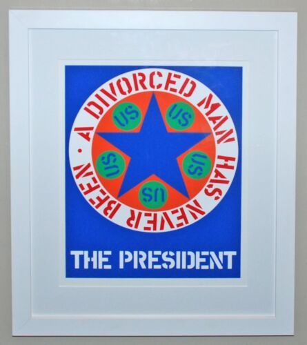 Original Robert Indiana Serigraph The President from The American Dream 1997