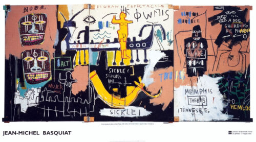 History of Black People by Jean-Michel Basquiat Art Print 2002 Poster 54x30