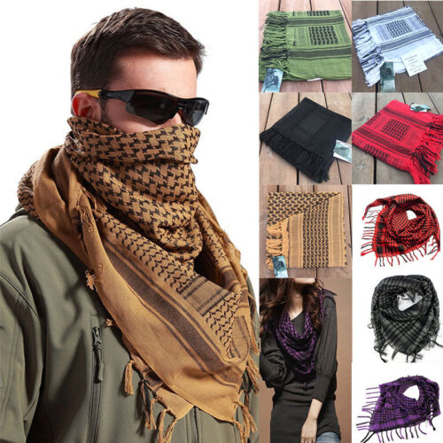 Lightweight Army Military Arab Tactical Shemagh KeffIyeh Scarf Thicken Head Wrap