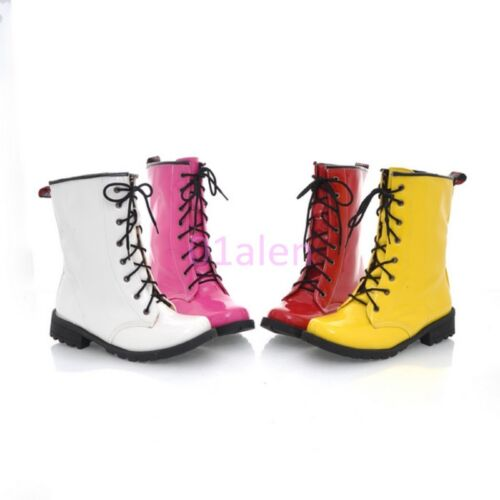 Autumn Womens Punk Goth Sweet Lace Up Military Combat ANkle Boots Leisure Shoes