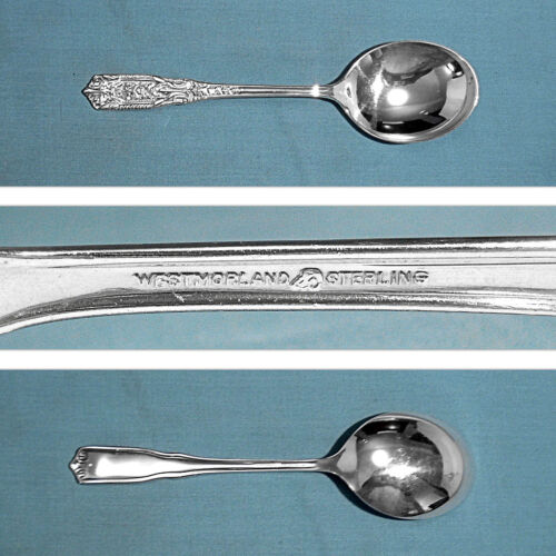 WESTMORLAND STERLING CREAM SOUP SPOON(S) ~ MILBURN ROSE ~ NO MONO