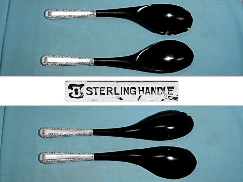 TOWLE STERLING HANDLE 2-PIECE SALAD SERVING SET ~ CANDLELIGHT ~ NO MONO