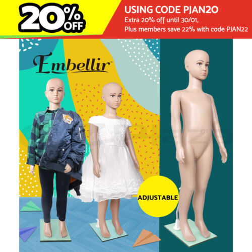 Embellir Child Mannequin Full Body Kids Clothes Display Torso Dressmaking Window