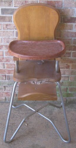 1950's HIGH CHAIR Classic Mid Century Style BAKELITE? Tray STORKLINE No Reserve!