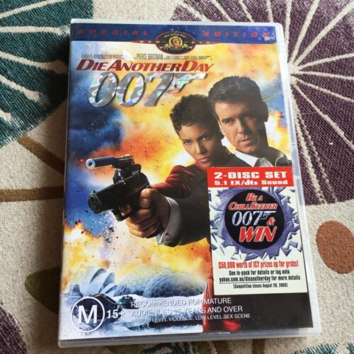 2 DISCS. DIE ANOTHER DAY 007 DVD.
