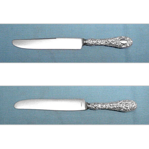 "SCHOFIELD STERLING 8 3/4"" NEW FRENCH HOLLOW KNIFE(S) ~ BALTIMORE ROSE ~ NO MONO"
