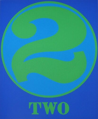 Original Robert Indiana Two from The American Dream 1997