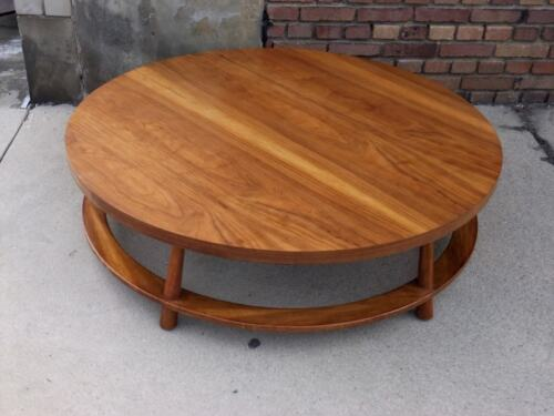 "Robsjohn-Gibbings Widdicomb Mid-Century Modern Solid Walnut Coffee Table 48"" W"