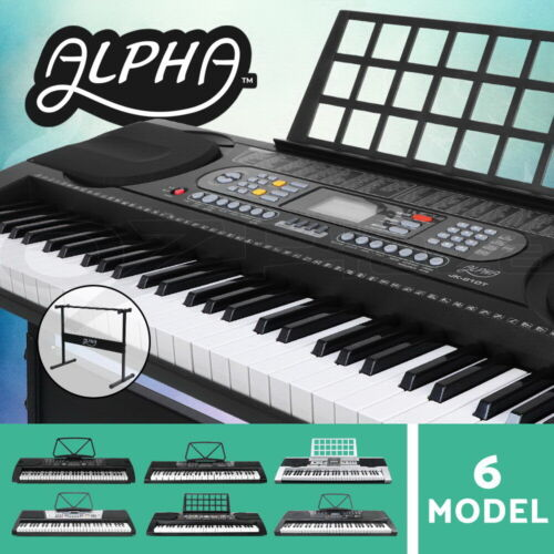 Alpha 61 Keys Electronic Piano Keyboard LED Electric Holder Music Stand Adaptor <br/> ♪Comfortable touch ♪Sounds perfect ♫Comes with Stand