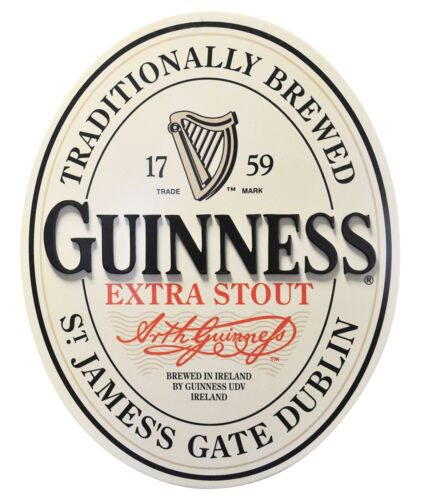 Guinness Large Distressed Effect Light Bulb Sign Irish Beer Advertising New