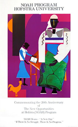 """NOAH Means - """"A New Day"""" by Romare Bearden Art Print Hofstra Poster 34.5x21"""