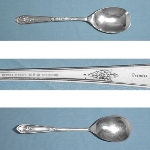 ROYAL CREST STERLING CASSEROLE SPOON ~ PROMISE ~ NO MONO