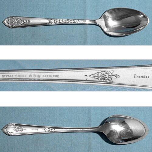 ROYAL CREST STERLING SERVING SPOON ~ PROMISE ~ NO MONO