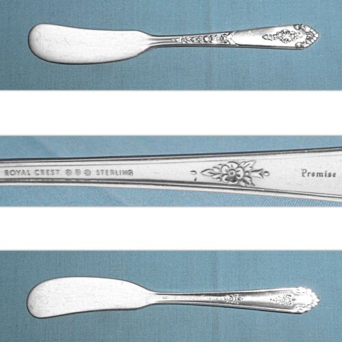 ROYAL CREST STERLING FLAT HANDLE BUTTER SPREADER(S) ~ PROMISE ~ NO MONO
