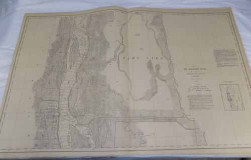 1893 Detailed Map of the MISSISSIPPI RIVER/#133/Near CANTON, MO/24x38""