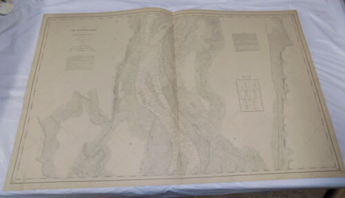 1892 Detailed Map of the MISSISSIPPI RIVER/  North of LOUISIANA, MO  /24x38""