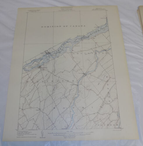 1905 Topographic Map of WADDINGTON QUADRANGLE, ST LAWRENCE COUNTY, NEW YORK