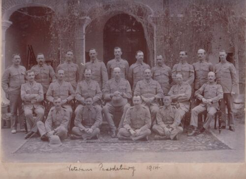 WW1 real photo of Commonwealth veteran forces of Paardenburg Germany back photo