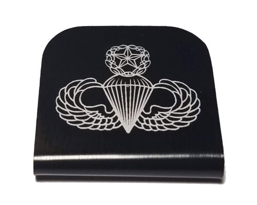 Punisher Hat Clip Black for Tactical Patch Caps by Morale Tags