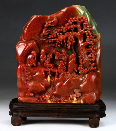 A Chinese Soapstone Carved Mountain