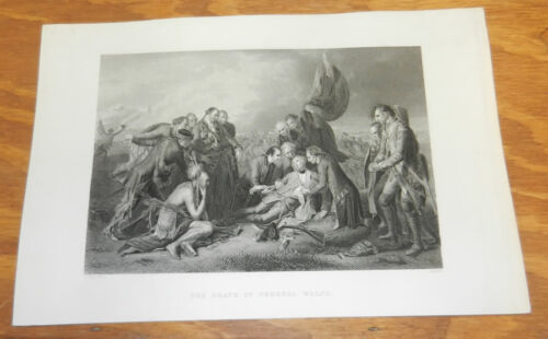1840s Antique Print//THE DEATH OF GENERAL WOLFE