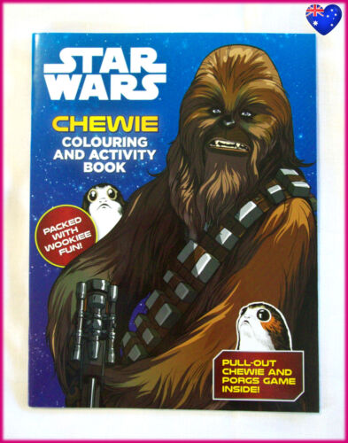 CHEWIE STAR WARS - Awesome COLOURING & ACTIVITY BOOK - Colour In NEW - Chewbacca