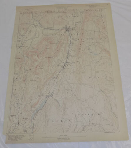 1890 Topo Map of GREYLOCK QUADRANGLE, NORTH ADAMS AREA, MA, CT