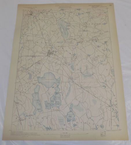 1890 Topo Map of MIDDLEBOROUGH QUADRANGLE, SOUTH-CENTRAL MA