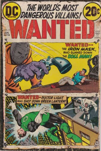 Wanted The World's Most Dangerous Villains #5. VG. 1973