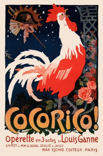 Cocorico! Vintage French Poster Art Print France Opera 26x18