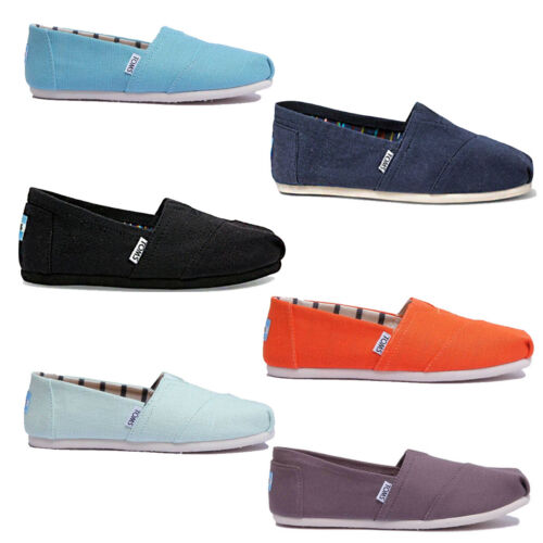 Toms Classic Slip On Womens Colours Canvas Trainer Size UK 3 - 8