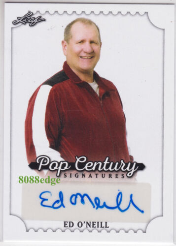 2016 POP CENTURY AUTO: ED O'NEILL -AUTOGRAPH MARRIED WITH CHILDREN/MODERN FAMILY