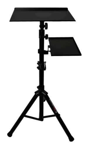 Laptop Projector Tripod Stand / Adjustable Height & Tilt Removable Tray + Bag